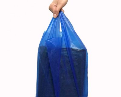 Blue Vest Carrier Bag